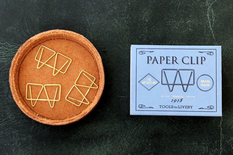 Tools to Liveby Brass Paper Clips (Mogul)