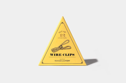 Tools to Liveby Wire Clips (Gold Paper Clips)