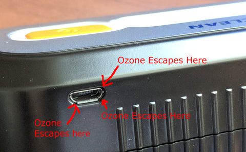 Poorly Sealed Unit that leaks Ozone. ( Virtuclean )