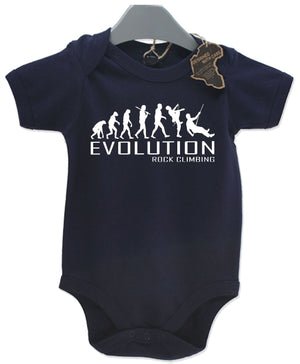 Evolution Rock Climbing Baby Grow Unisex Babies Playsuit Rock Climber Baby