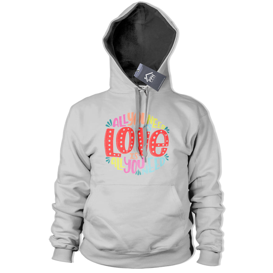 All You Need Is Love Music Hoodie Bible Quote Song Lyric Hoody Mens Womens 390