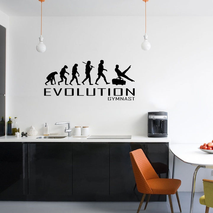 Evolution Of Gymnast Wall Sticker Vinyl Decal Decors Art Gymnastic Gym Bars