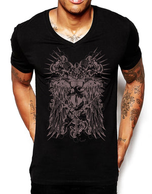 Distink Youth Primitive King Deep V Neck T Shirt Mens Muscle Top Graphic 481