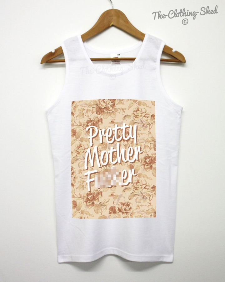 PRETTY MOTHER F***ER FLORAL VEST URBAN SWAG HIP HOP MEN WOMEN ASAP