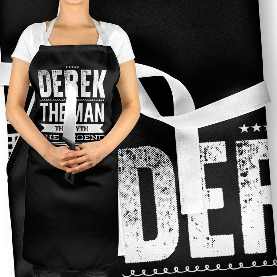 PERSONALISED The Man The Myth The Legend Funny Apron BBQ Gift Fathers Day ST96