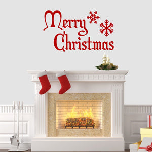 Merry Christmas Wall Sticker Vinyl Decorations Windows Art Xmas Decal Mural