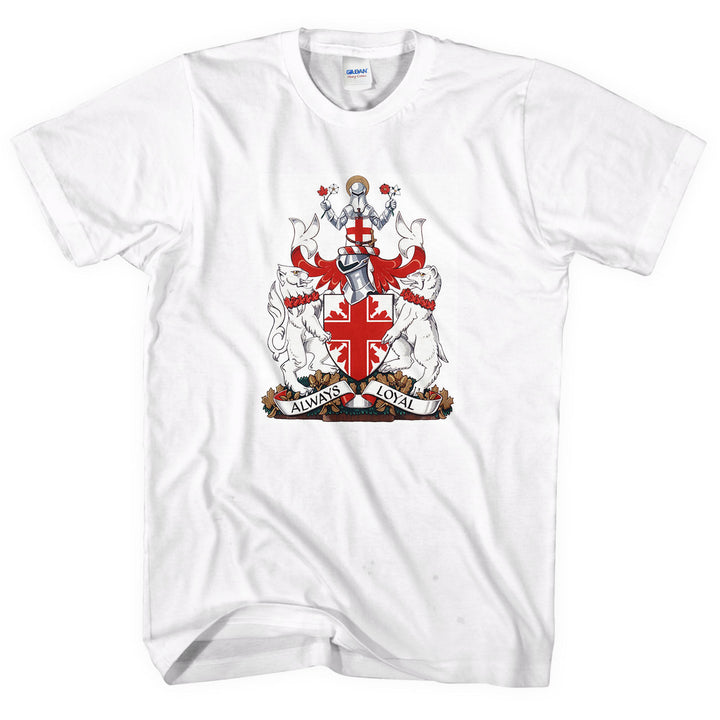 Saint George's Coat Of Arms T-Shirt Always Loyal Men White St Day April 23 L266