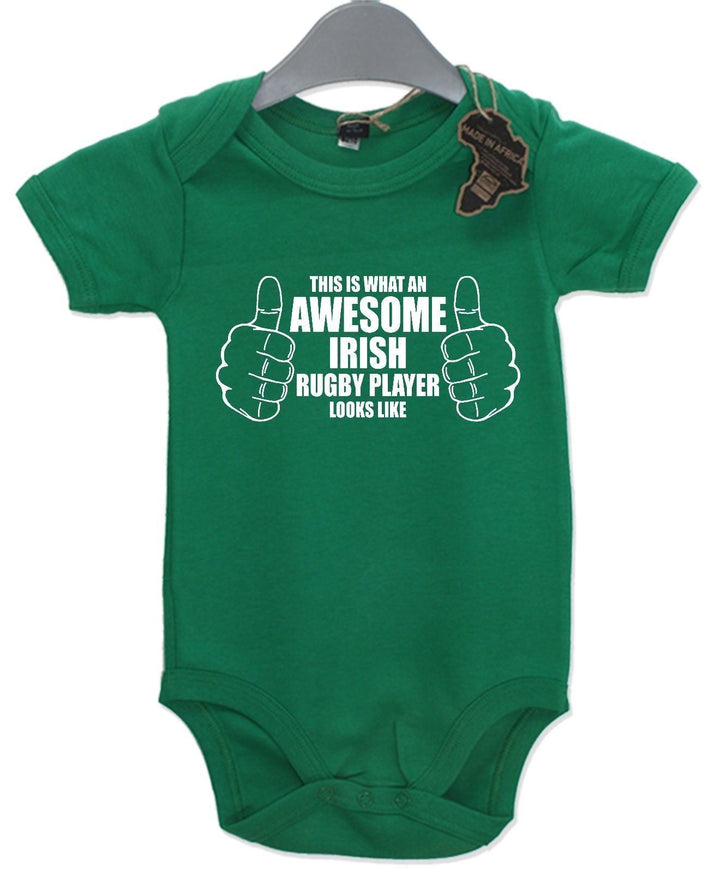 Awesome Rugby Player Gift Baby Grow Sport Boy  Present Girls Play Suit Cute