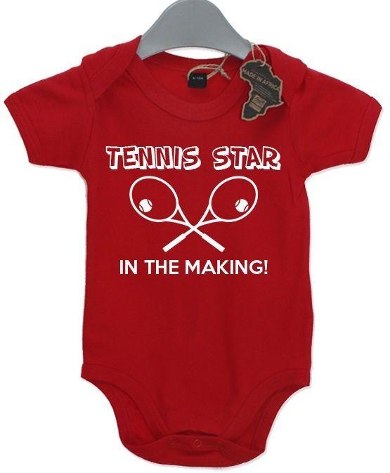 Tennis Star In The Making Baby Grow BabyGrow Playsuit Birthday Present Sports