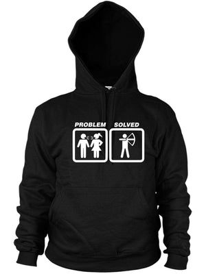 Archery Problem Solved Hoodie Funny Present Women Men Hoody Darts Arrow Bow Gift