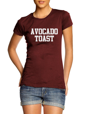 Avocado Toast T Shirt Funny Diet Fitness Model Kale Kourtney Blog Foodie Hungry , Main Colour Maroon