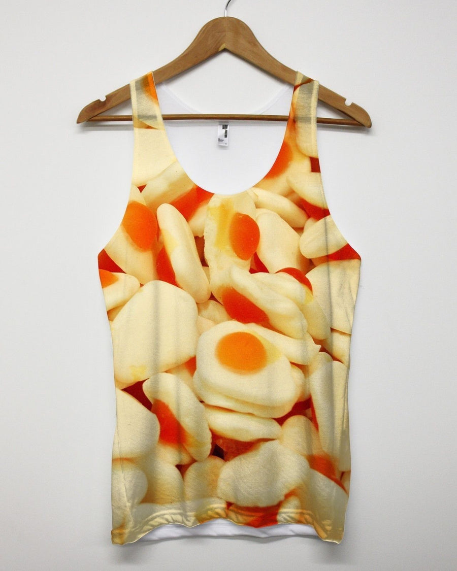 Fried Egg Sweet All Over Print Vest Sweeties Festival Summer Clothing Men Tank