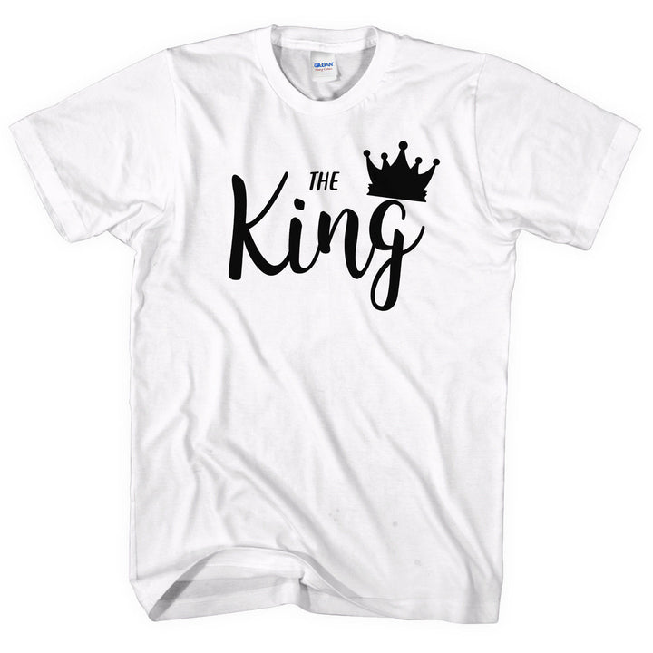 4af80aeb21 The King His Queen T-Shirt Cute Couple Tshirts Valentines Day Boyfriend L175
