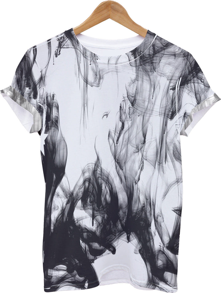 2XL 74 Floral Black Panel All Over T Shirt Indie Hipster Summer Print Sizes XS