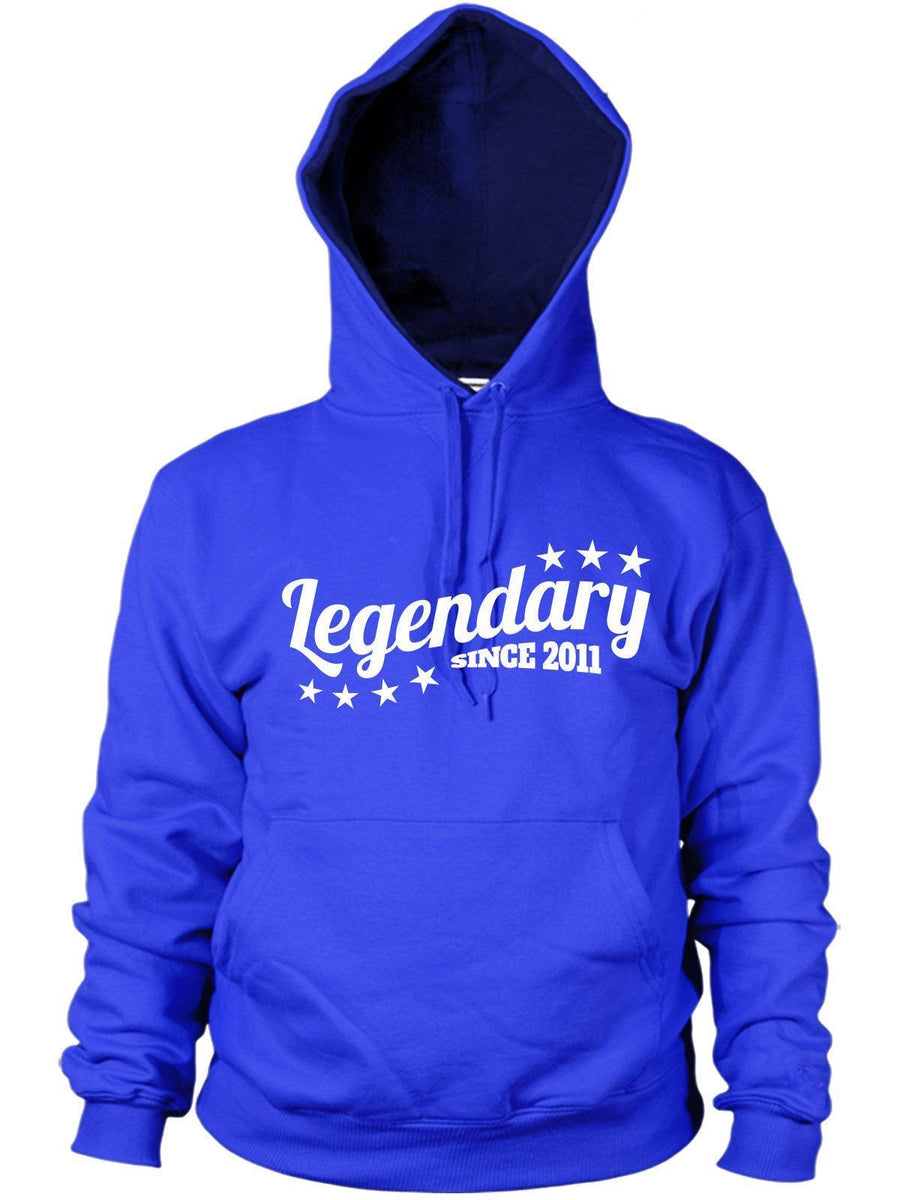 Legendary Since 2011 Hoodie Birthday Gift years old Present Men Women kids boys