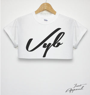 2c9d8c5056c4f9 VYB HIPSTER CROP TOP T SHIRT WOMENS VIBE DOPE FASHION WOMENS SWAG FRESH  HIPSTA