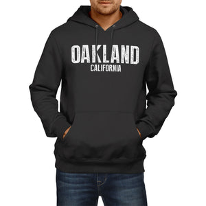 Oakland California SLOGAN Mens US State HOODIE America Football Hoody Sweatshirt