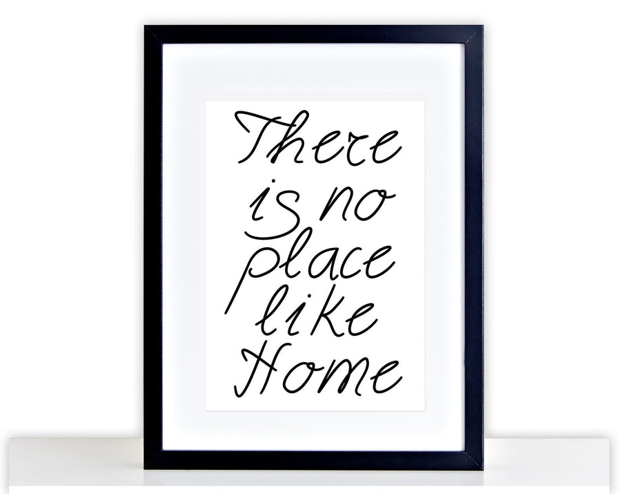 No Place Like Home Family Picture Poster Framed Mounted Love Kitchen Print 216