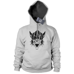 Viking Skull Hoodie War God Iceland Emo Goth Reaper Hoody Top Mens Womens 363