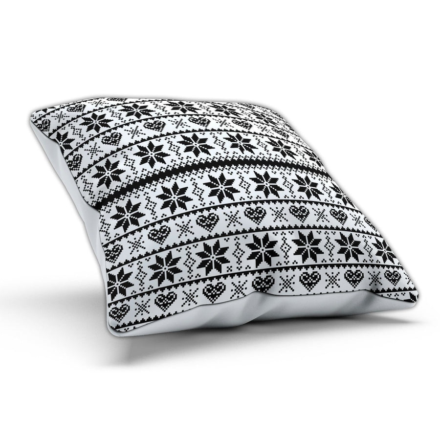 Black Aztec Cushion Christmas Home Theme Bed Living Room Style Modern Pillow
