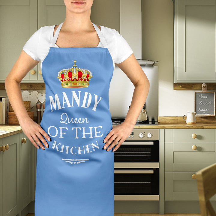Personalised Custom Queen Of The Kitchen Apron Chef Mother's Day Cute Gift EM230