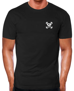 GET DOWN GYM WEAR POCKET LOGO T SHIRT SIMPLE FITTED WORKOUT TOP TRAIN BODYBUILD