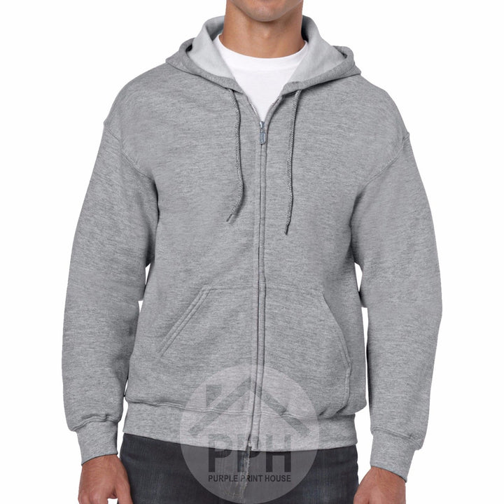 Gildan Heavy Blend ZIPPED Hoodie UK Supplier All Colours Mens Sweatshirt SALE