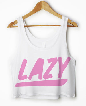 Lazy Crop Top Boxy Cute Sleepover Day Summer Holiday Girl Fresh Hipster Dope Dye