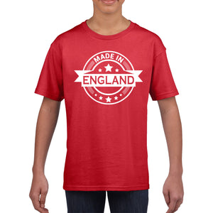 Made In England T Shirt St Georges Day TShirt English Rugby T-Shirt Flag 870