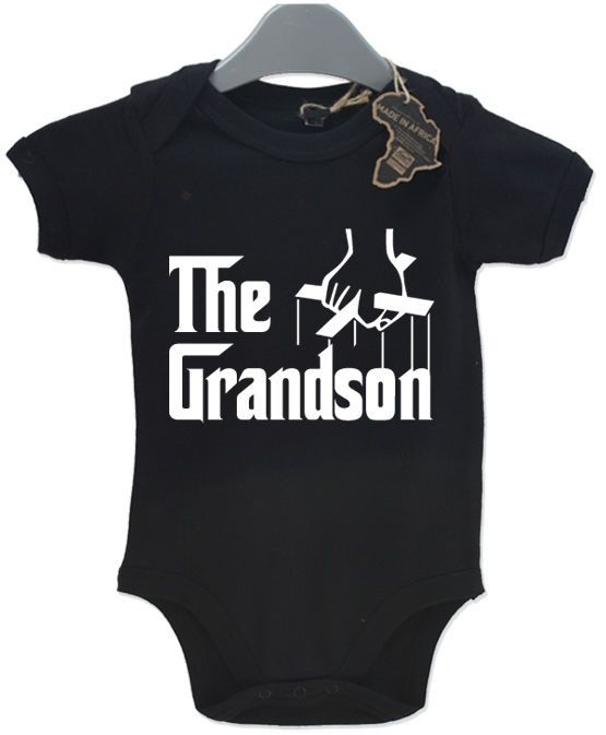 The Grandson Baby Grow BabyGrow Funny Birthday Gift Present Playsuit Newborn Boy