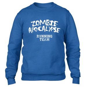 Zombie Apocalypse Running Team Funny Men Sweater Dead Hardest Part Sweatshirt