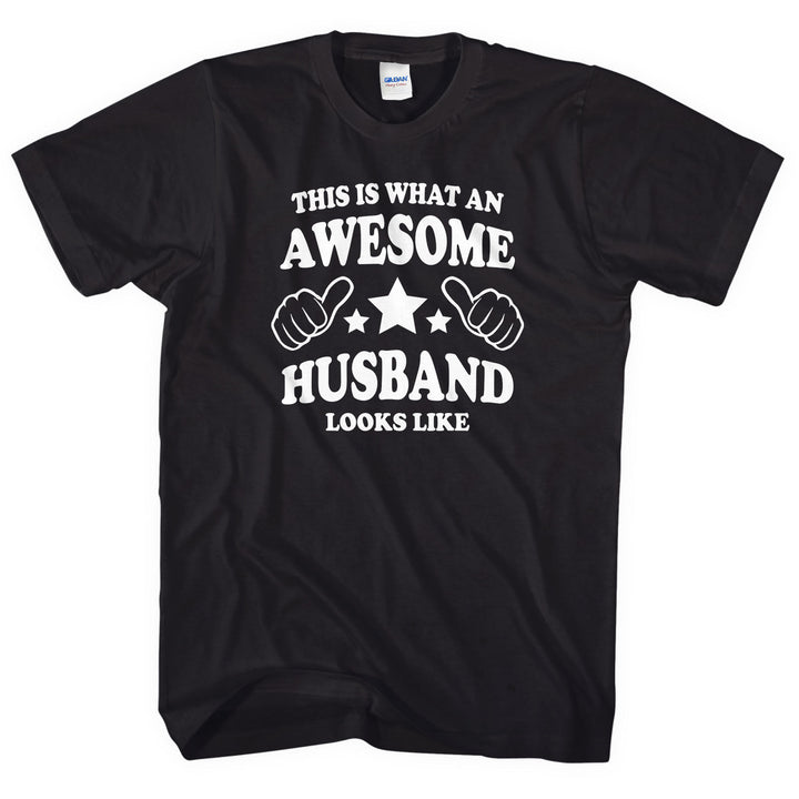 This is what an awesome Husband looks like t-shirt Valentines Day Gift Him L177