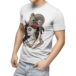 Dead Queen T-Shirt Hipster Swag Punk Rock Heavy Metal Skull T Shirt King Beard