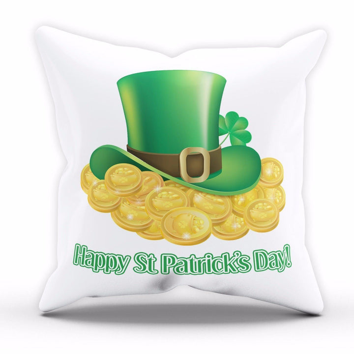 Happy St Patricks Day Cushion Leprechaun Hat Ireland Pillow Home Bedroom Sofa P1