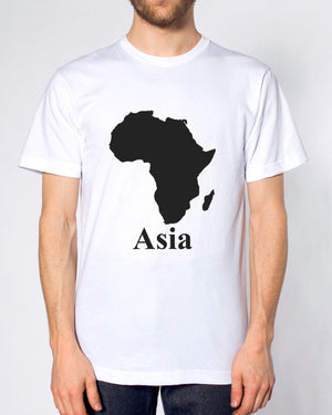 AFRICA ASIA T SHIRT FUNNY PARODY MAP MEN WOMEN KIDS