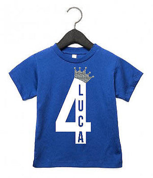Toddler Birthday T Shirt ANY AGE ANY NAME Top Pyjamas 1st 2nd 3rd 4th 5th AS13