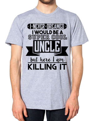 Super Cool Uncle T Shirt Top Fathers Day Funny Best Gift Present Niece Nephew