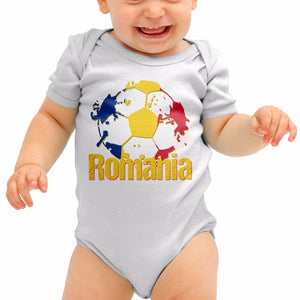 Romania Football Shirt Baby Grow Tricolorii Tri Romper Suit Babygrow Body B40