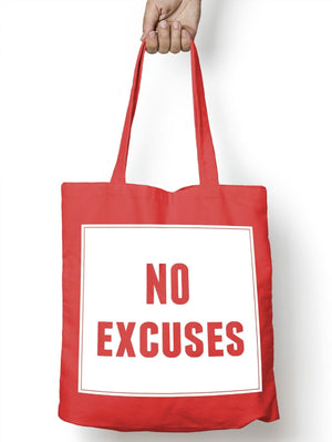 No Excuses Food Tote Bag For Life Shopper Shopping Healthy E75
