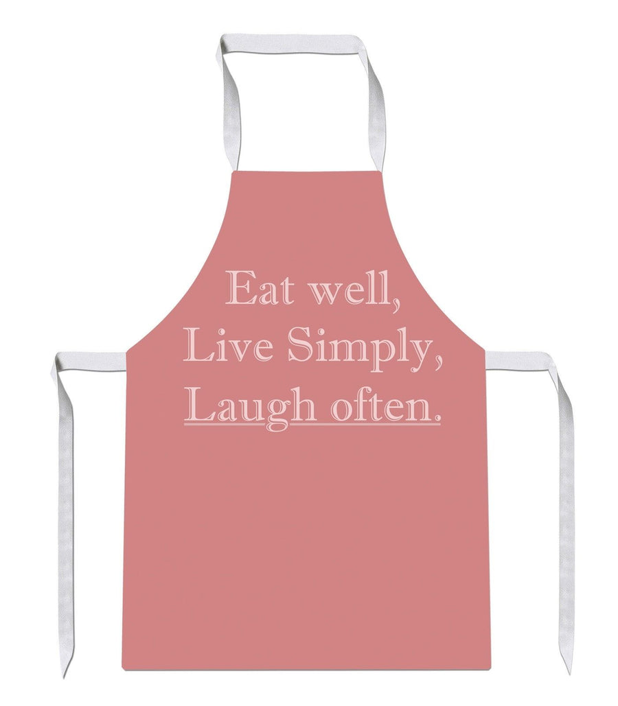 Eat Well Live Simply Laugh Often Kitchens Novelty Funny APRON Kitchen Tabard 35