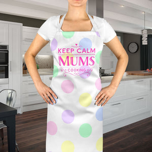 Keep Calm Mum's Cooking Apron Chef Mother's Day Cute Gift Unique Personal EM231