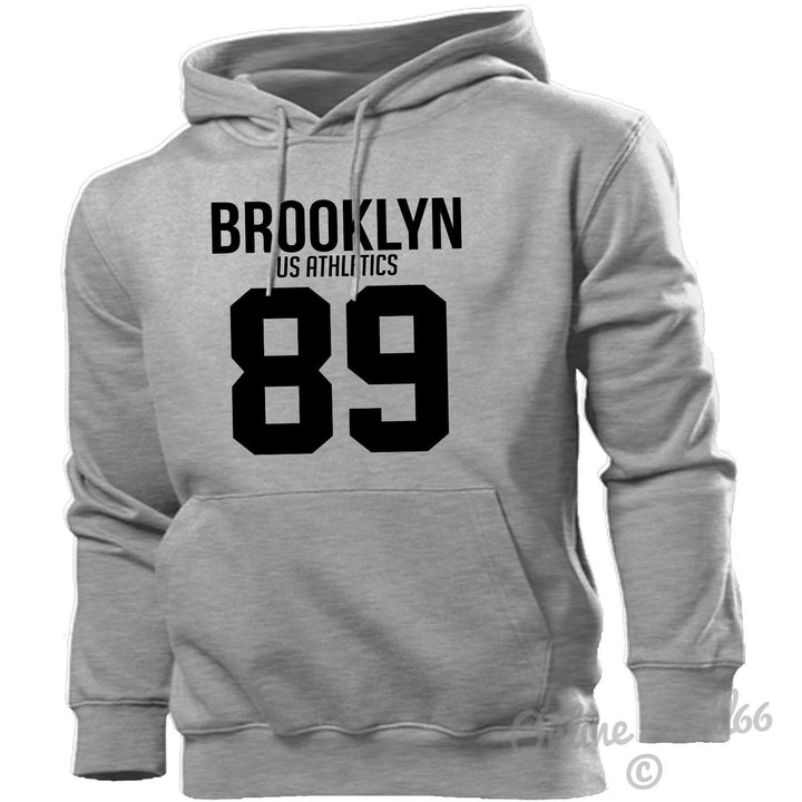 Brooklyn US Athletics 89 Hoodie Men Women Kids New York City Nyc America Track, Main Colour Sport Grey