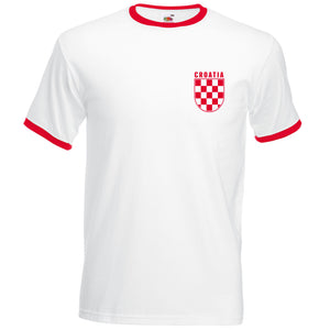 Retro Croatia Football T Shirt World Cup 2018 Croatian Vintage Check Men Fans