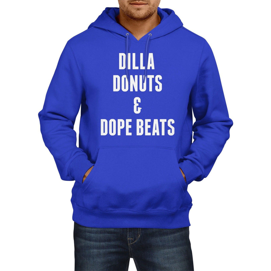 Dilla Donuts and Dope Beats Mens HOODIE Swag J Music Rap Sweat Hoody Funny E3