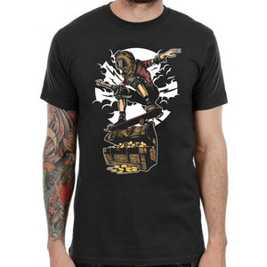 Diver Skater Treasure Illustration T-Shirt Mens Womens Kids Cool Awesome TF27