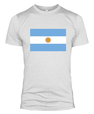 Argentina Flag T-Shirt Russia 2018 World Cup Supporters Top Fan Men Kids L254