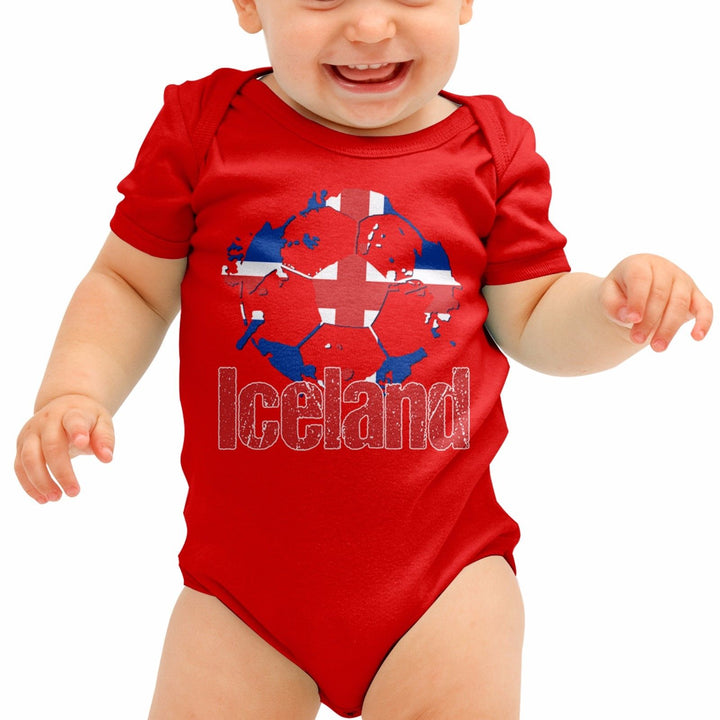 Iceland Football Shirt Vikings Baby Grow Romper Suit Babygrow Newborn Gift B40