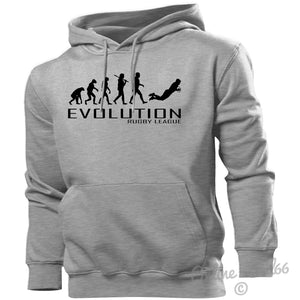 Rugby League Evolution Hoodie Mens Womens Kids Hoody Kit Ball Boots Studs Boys, Main Colour Sport Grey