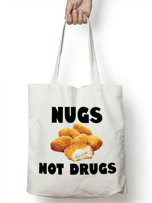 Nugs Not Drugs Shopper Tote Bag Food Shopping Novely Predent Secret College M86