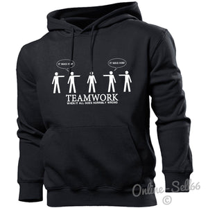 Teamwork Hoodie Hoody Men Women Kids Team Building Bonding , Main Colour Black